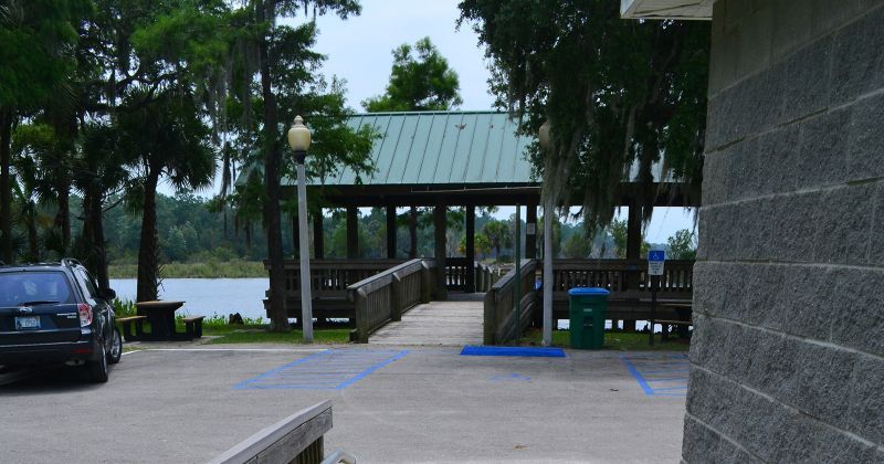 St. Marks River Park - direct access to restroom, parking, and pavillion
