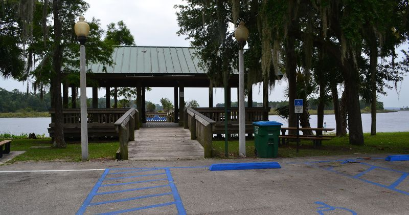 St. Marks River Park with parking overlooking the St. Marks River