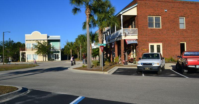 St. Marks Visitor Center - parking and entrance