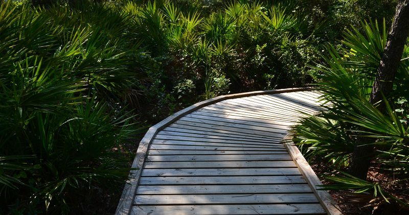 Apalachicola National Estuarine Research Reserve Visitor Center - boardwalk to view St. George Sound
