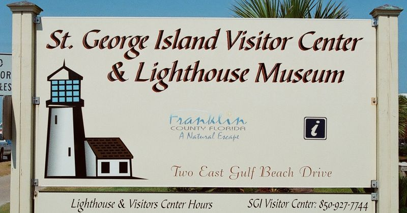 St. George Island Lighthouse & Museum - entrance signage