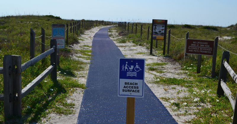 Dr. Julian G. Bruce St. George Island State Park - second beach access with mobi-mat