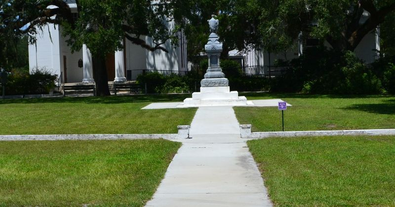 John Gorrie Museum State Park - monument and walkway