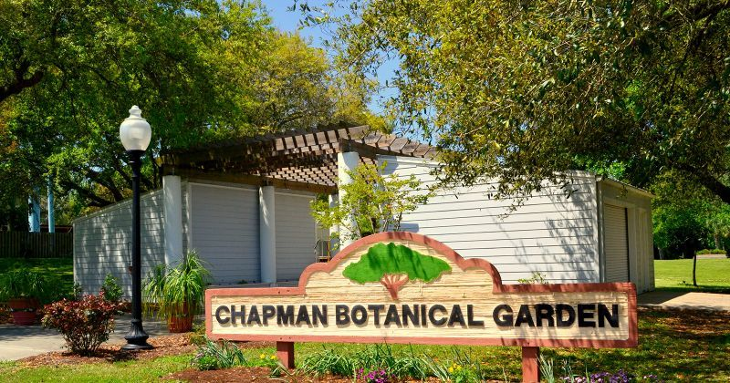 Orman House Historic State Park, Chapman Botanical Gardens, & Three Soldiers Detail - gardens
