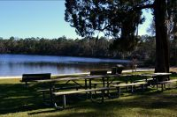 Silver Lake Recreation Area - Silver Lake beach and benches