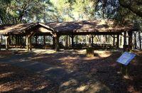paved walkway to picnic pavillion
