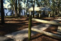 Luther Hall Landing - paved walkway to picnic pavillion
