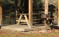 Myron b. Hodge City Park - raised concrete pad for picnic table