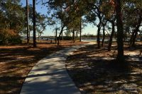 Ochlockonee River State Park - walkway to Ochlockonee River picnic tabes and beach access