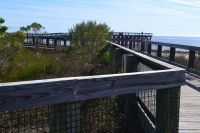 Mashes Sands Fishing Pier - scenic walk along boardwalk to fishing pier
