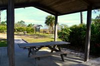 Sunrise beach picnic area at Bald Point State Park