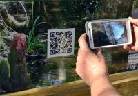 Wakulla State Forest - interpretive kiosk QR code on cave diving