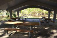Lakeside picnic pavilion at Otter Lake Recreational Area