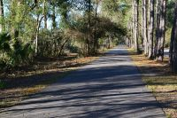 multi-use paved trail at Wakulla Station Trailhead, St. Marks Historic Railroad State Trail