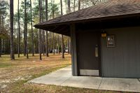 Wright Lake campground and restroom